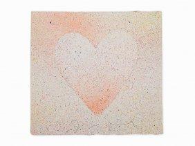 Jim Dine, 'confetti Heart', Mixed Media On Paper, 1970