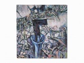 Fabian Marcaccio, 'landscape 6', Oil On Canvas, 1988