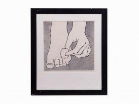 Roy Lichtenstein, 'foot Medication', Offset Lithograph,