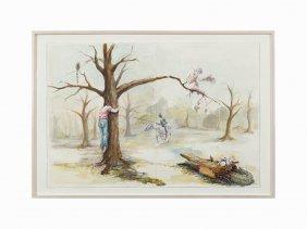 Bryan Crockett, 'solipsist I', Watercolor, 2004