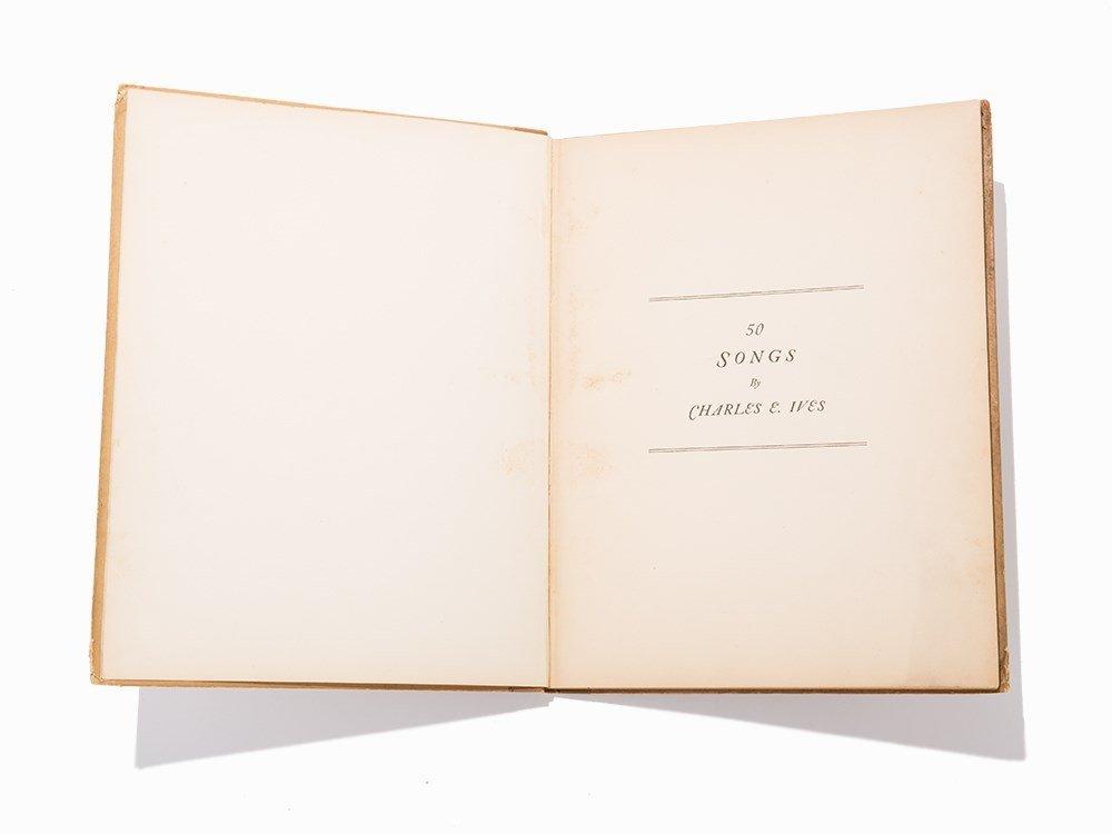 """Charles E. Ives, """"50 Songs"""", 1922, 1st Ed"""