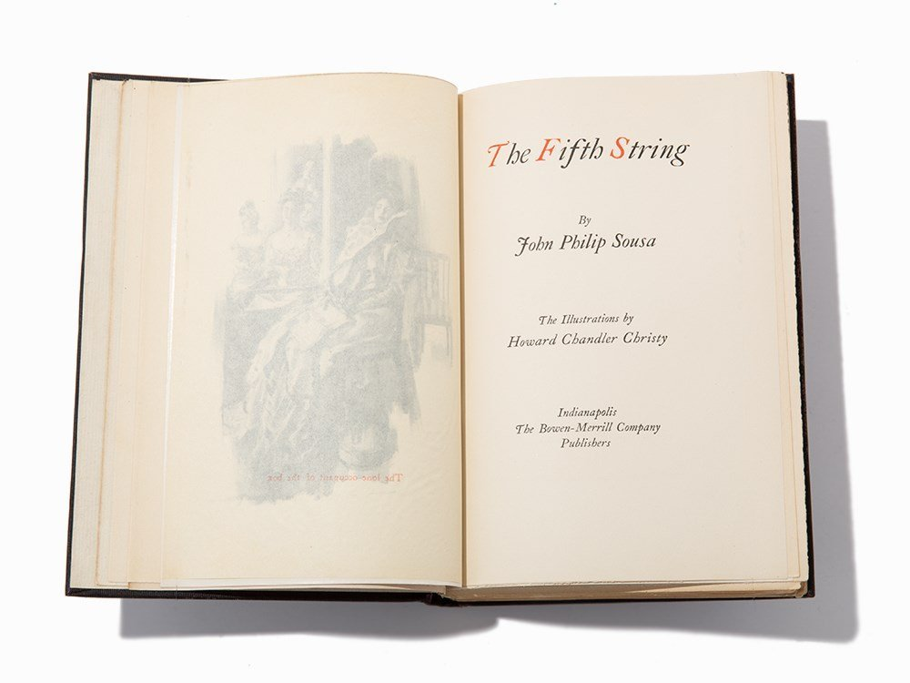 """Sousa, """"The Fifth String"""", Indiana, 1902, Signed 1st Ed"""