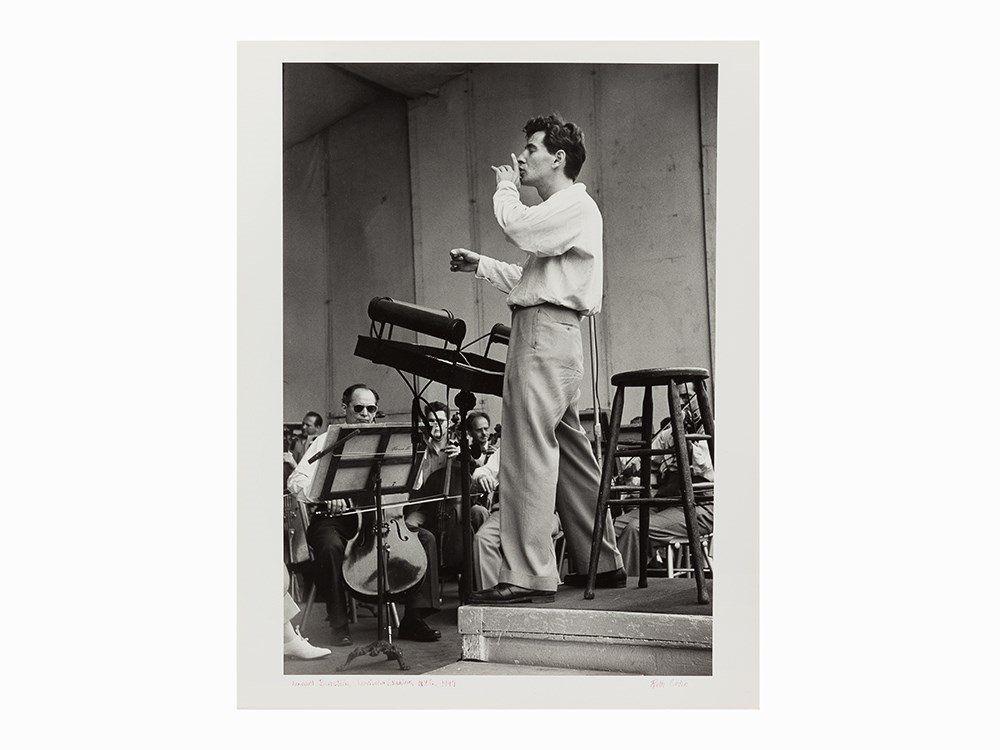 Ruth Orkin, Leonard Bernstein, Gelatin Silver Print,
