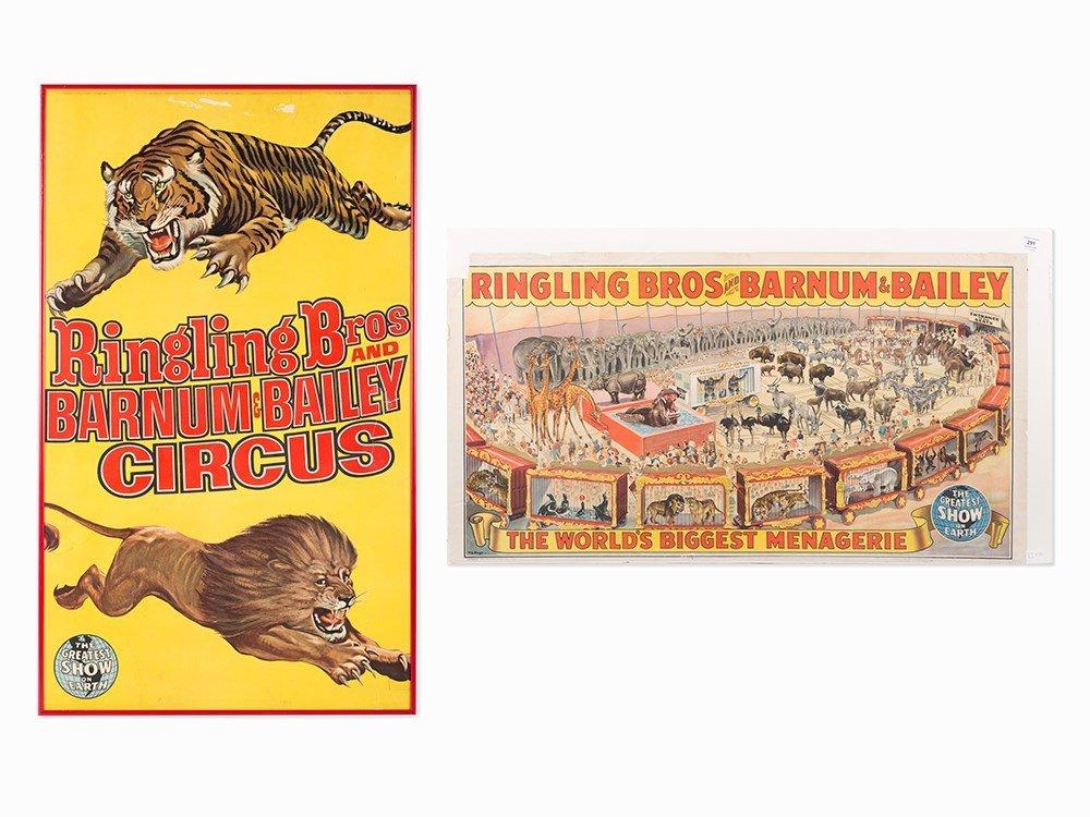 Pair Ringling Bros & Barnum & Bailey Circus Posters,