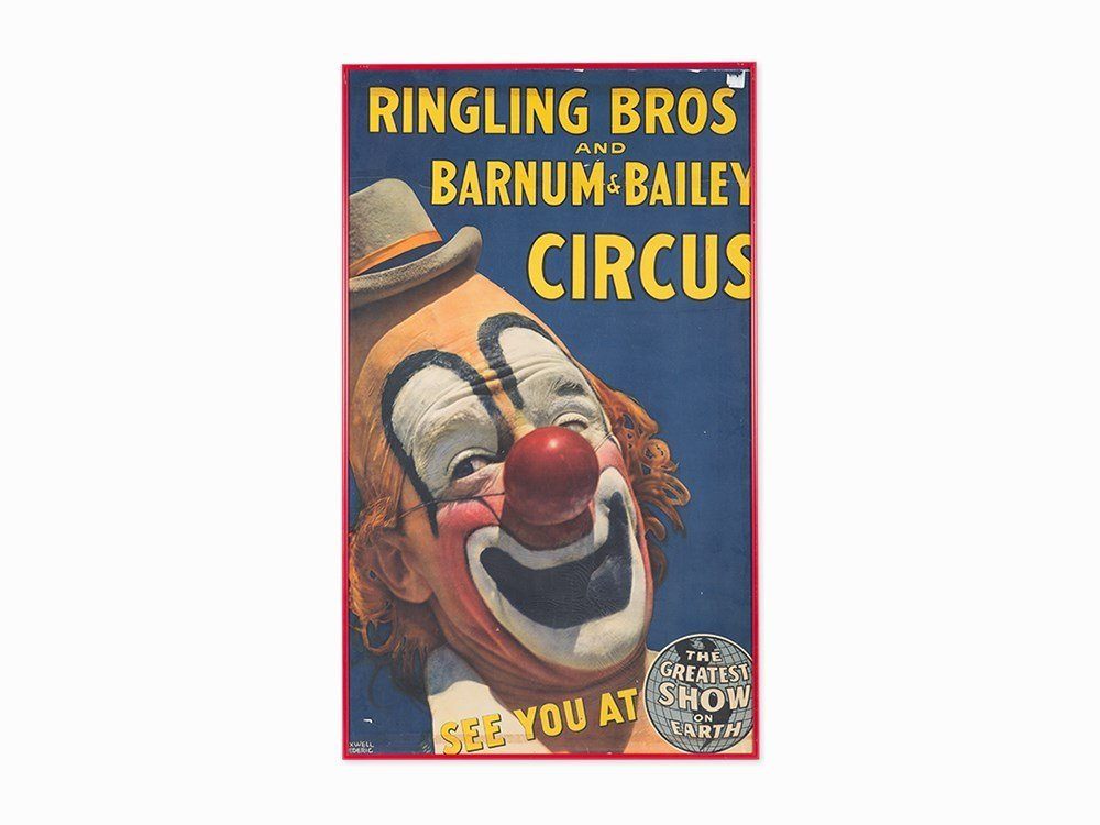 Vintage Ringling Bros & Barnum & Bailey Circus Poster,