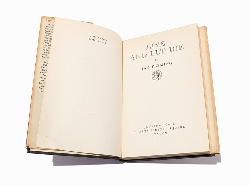 """Ian Fleming, """"Live and Let Die"""", London, 1954, 1st Ed"""