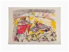 "Roberto Matta, ""Torotoro,"" Lithograph, 1955"