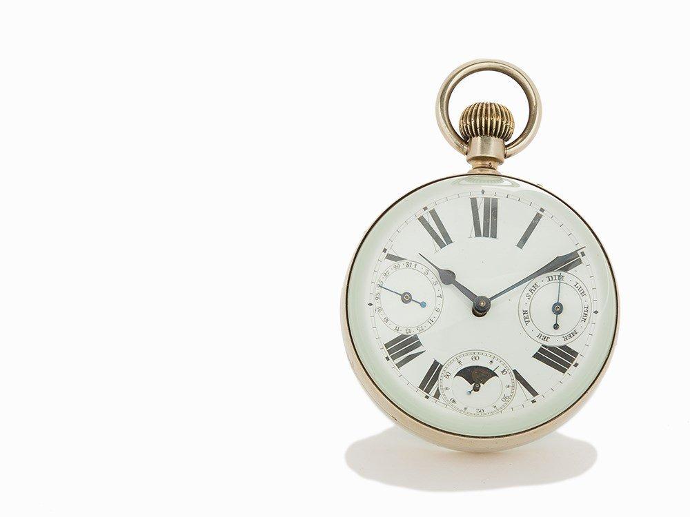 Vintage Desk Ornate Ball Clock, Switzerland or France, - 2