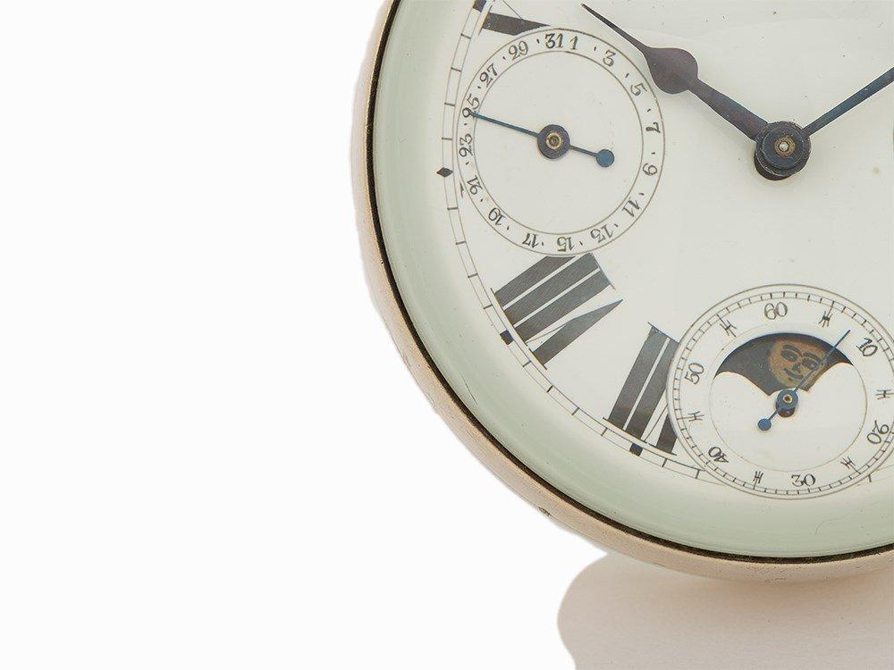 Vintage Desk Ornate Ball Clock, Switzerland or France, - 4