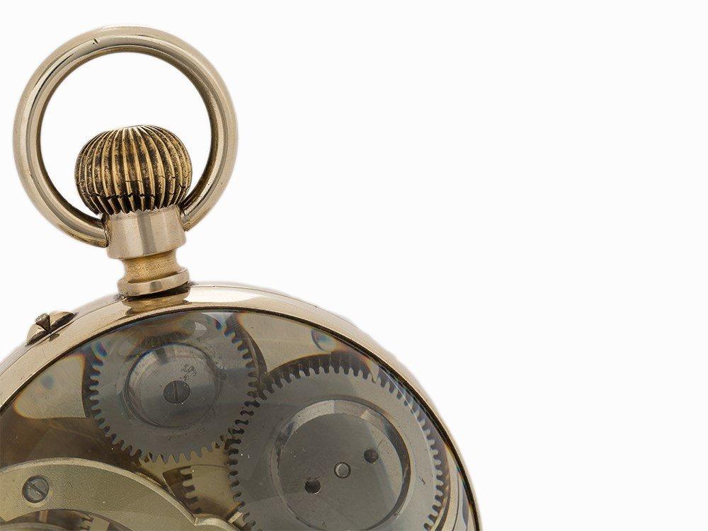 Vintage Desk Ornate Ball Clock, Switzerland or France, - 6