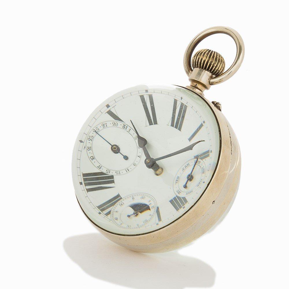 Vintage Desk Ornate Ball Clock, Switzerland or France, - 8