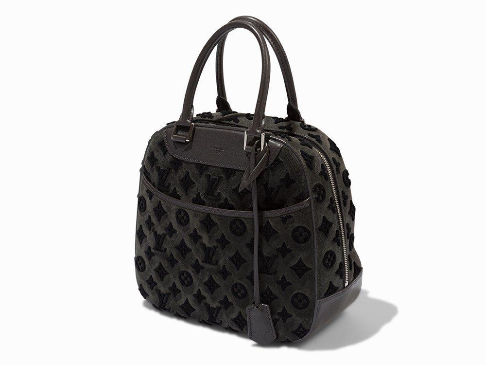 Louis Vuitton, Grey Monogram Tuffetage Deauville Bag,