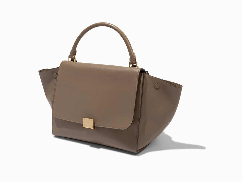 Celine, Light Brown Leather Trapeze Bag, c.20th C