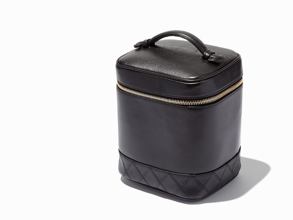 Chanel, Black Quilted Base Cosmetic Case, 20th C.
