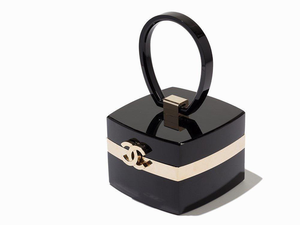Chanel, Black Lucite Small Minaudiere Clutch, c.2004