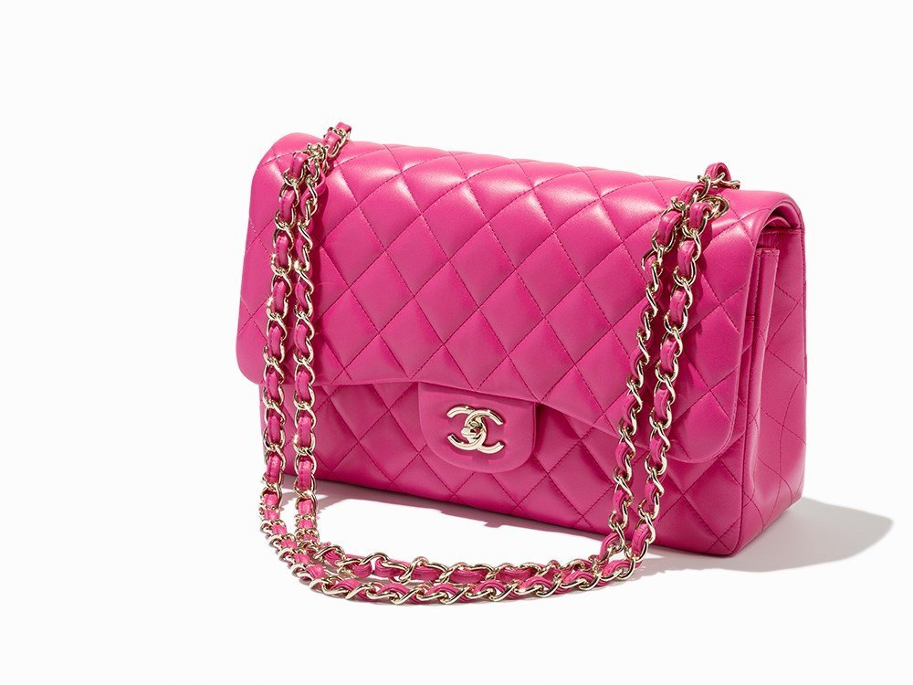 Chanel, Fuchsia Quilted Lambskin Flap Bag, c.2016