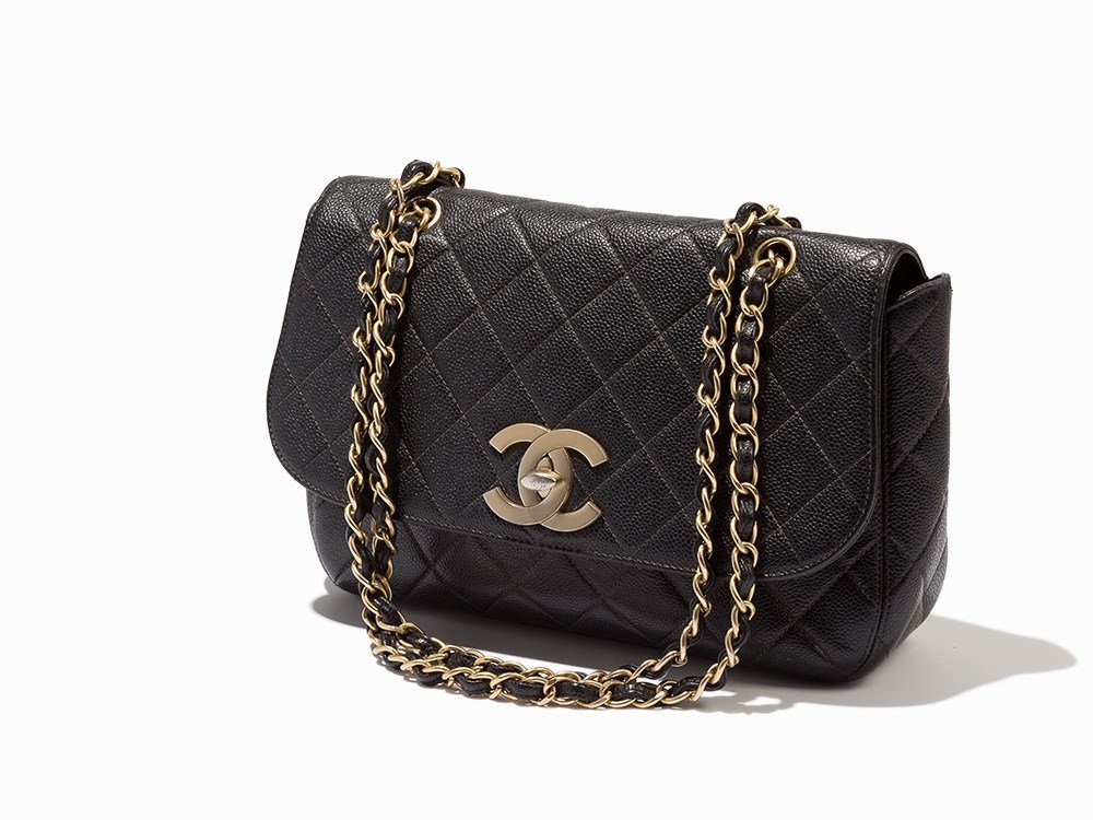 Chanel, Quilted Caviar Leather Jumbo Classic Flap Bag,