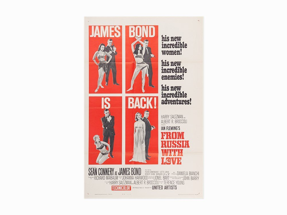 """Vintage """"From Russia with Love"""" Film Poster, c. 1963"""