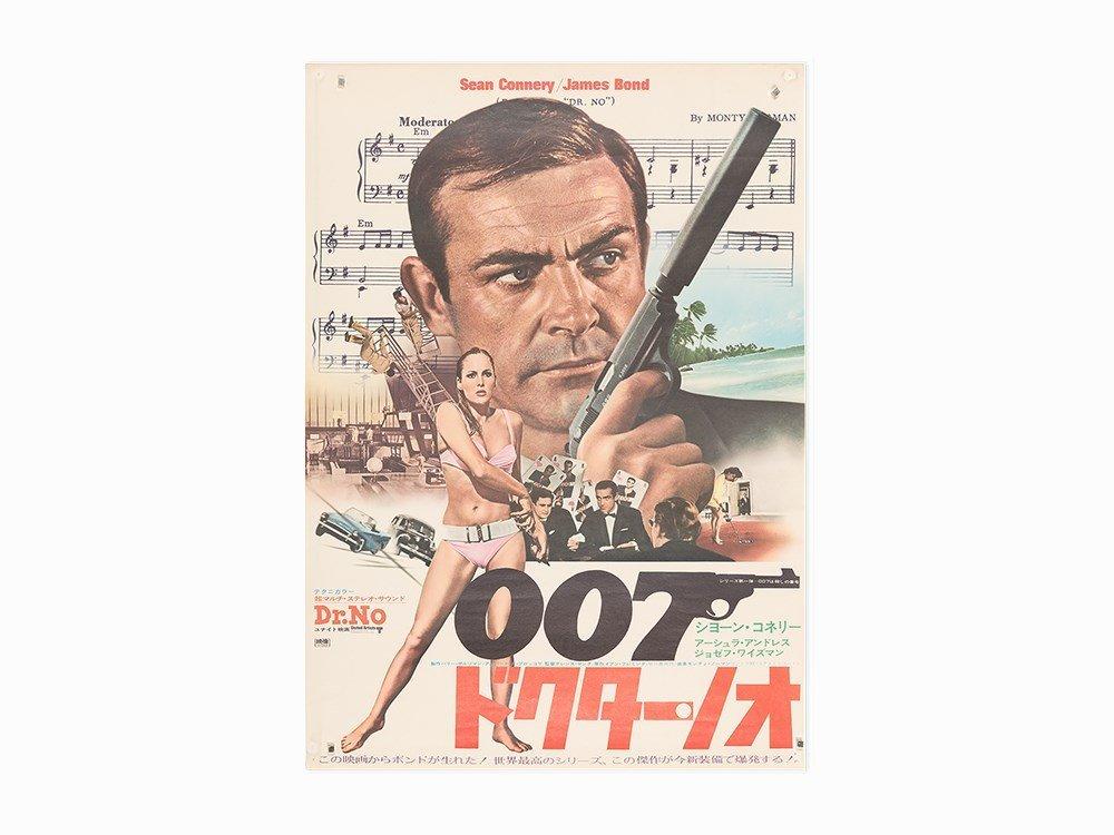 """Vintage """"Dr. No"""" Japanese Release Film Poster, c. 1972"""