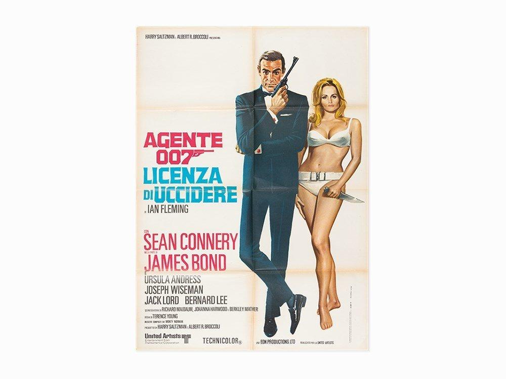 Agente 007, Dr. No Italian Film Poster, c. 1970