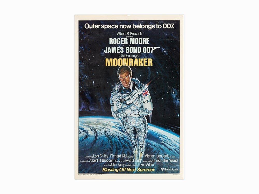 "Vintage ""Moonraker"" American Film Poster, c. 1979"
