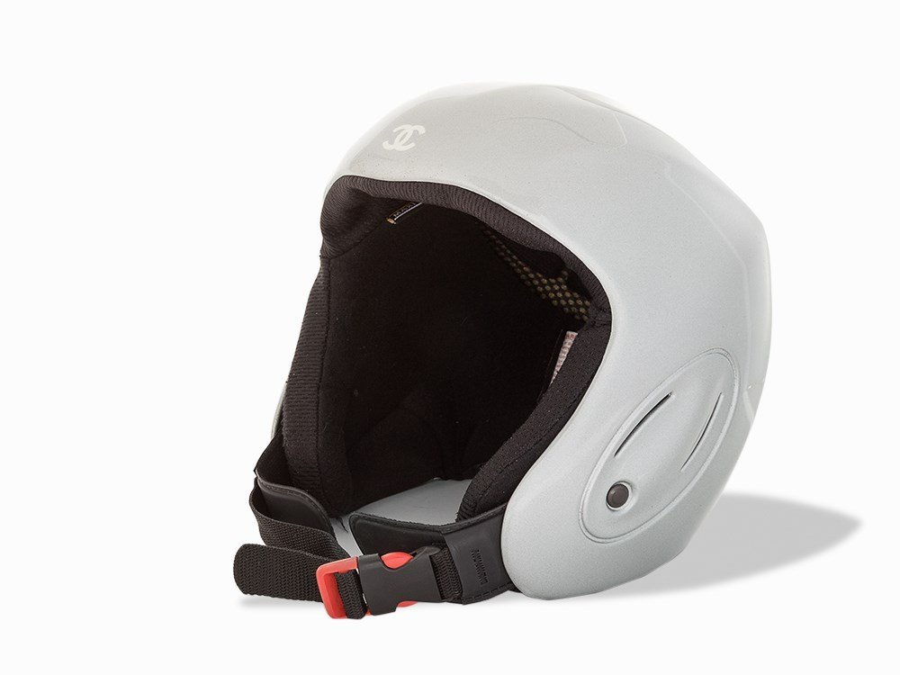 Chanel, Metallic Silver Ski Helmet, c.20th C