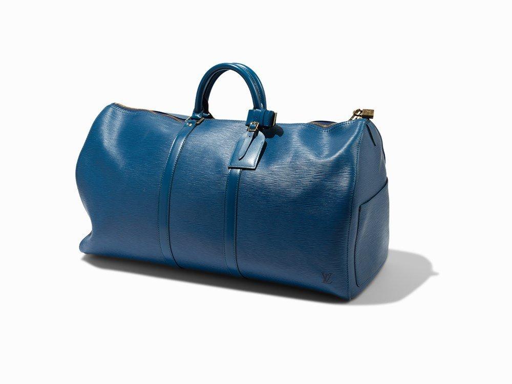Louis Vuitton, Blue Epi Keepall 60, c. 1995