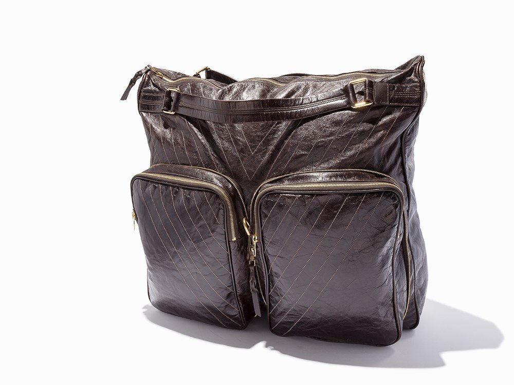 Louis Vuitton, Brown Leather Convertible Weekend Bag,