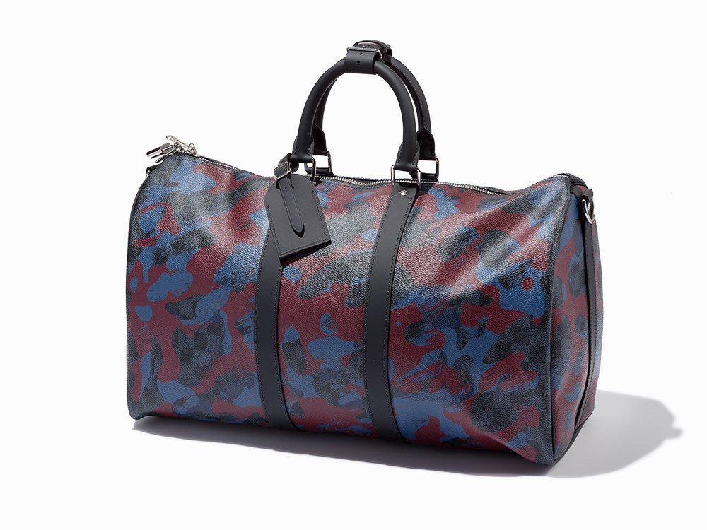 Louis Vuitton, Camouflage Damier Canvas Keepall 45,