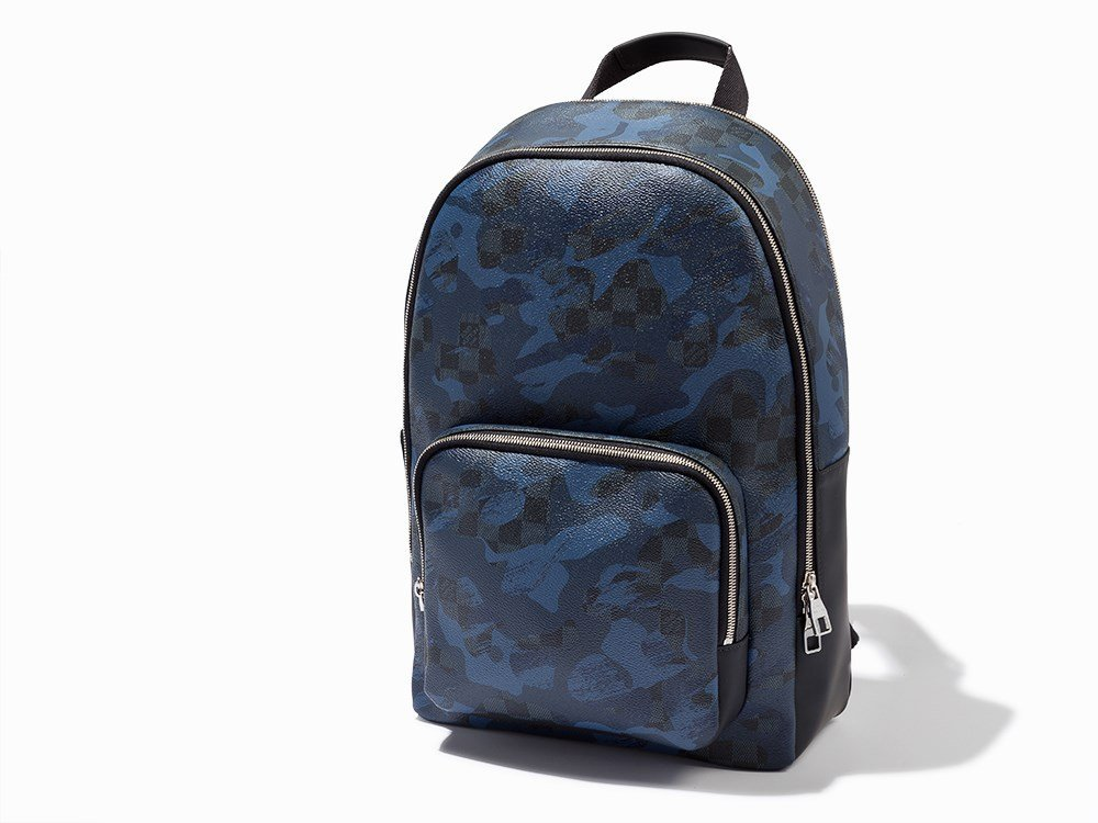 Louis Vuitton, Camouflage Damier Canvas Andy Backpack,