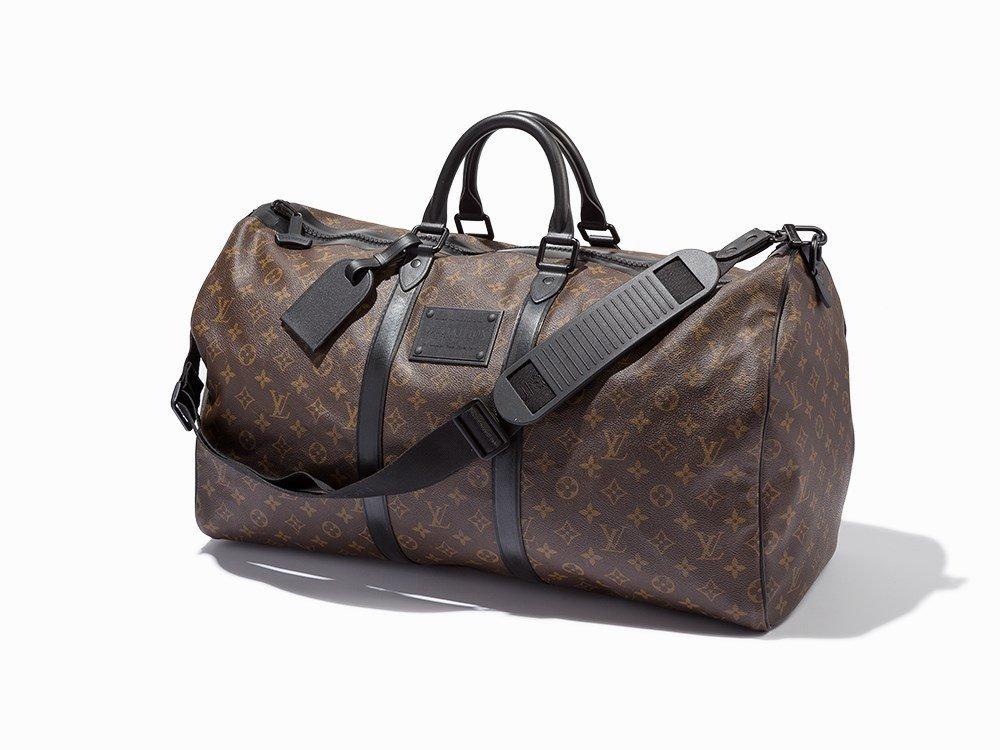 Louis Vuitton, Brown Monogram Keepall Bandouliere,