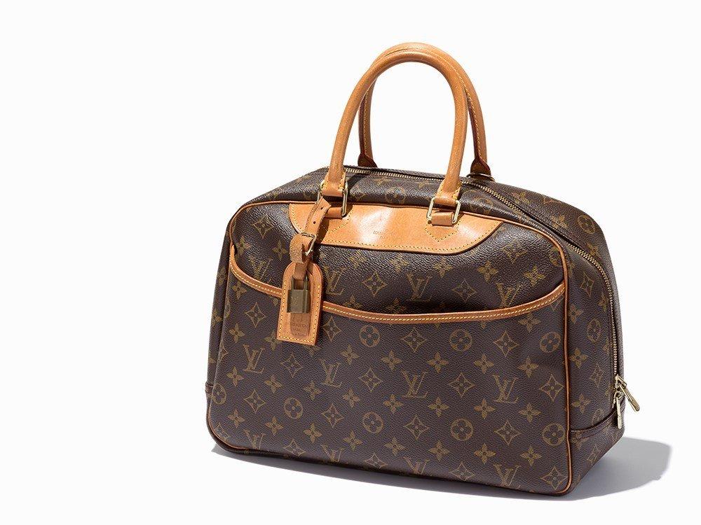 Louis Vuitton, Brown Monogram Deauville Bag, c. 1999