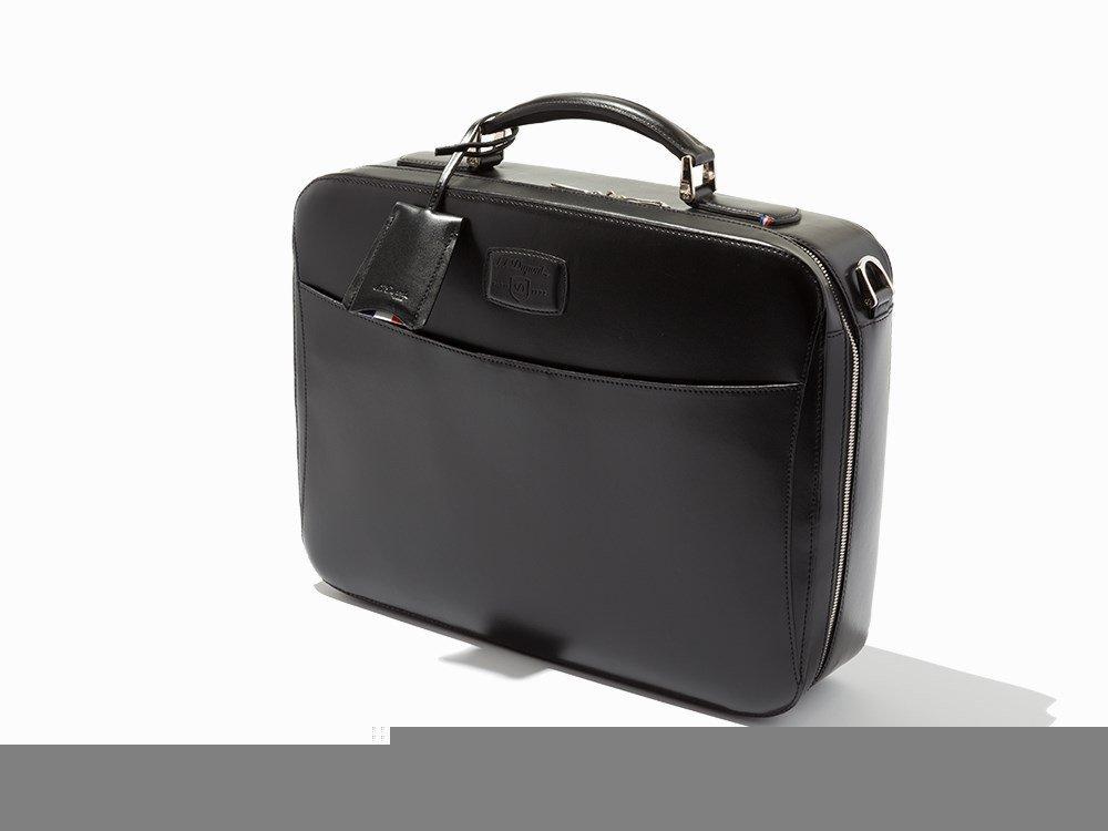 S.T. Dupont, Black Leather Carrier & Laptop Bag
