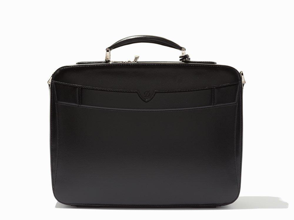 S.T. Dupont, Black Leather Carrier & Laptop Bag - 5