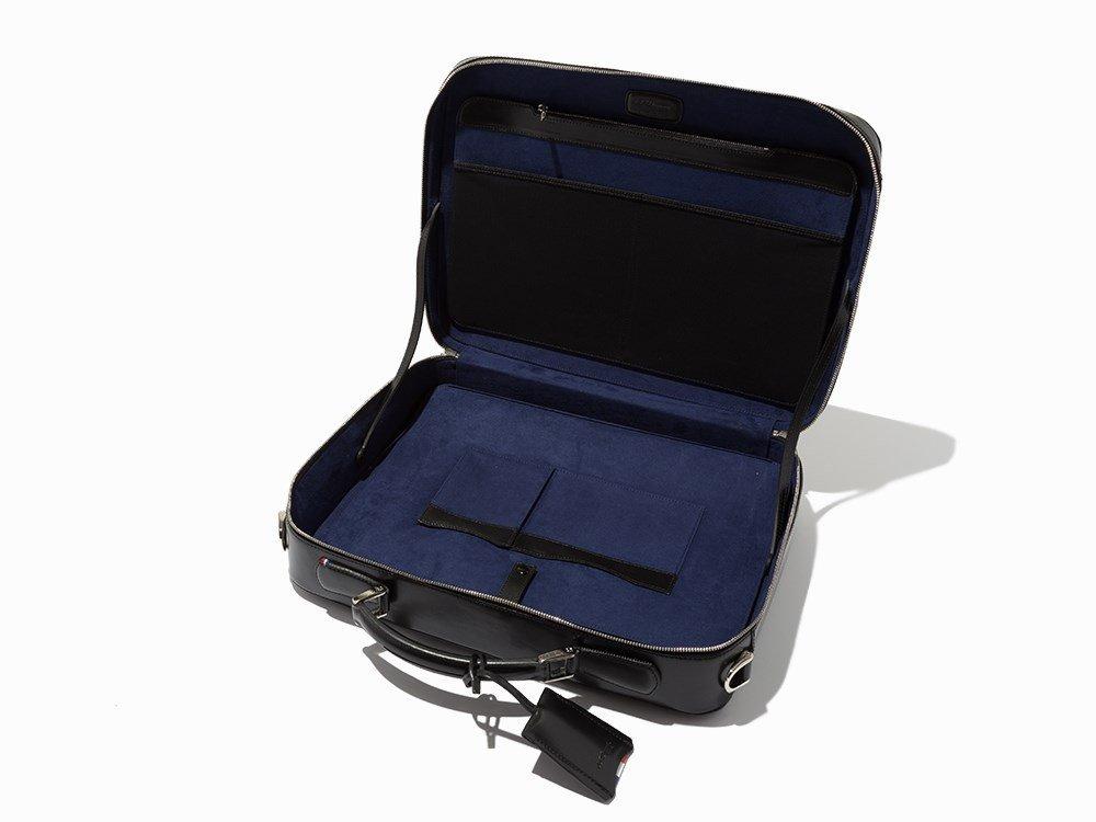 S.T. Dupont, Black Leather Carrier & Laptop Bag - 6