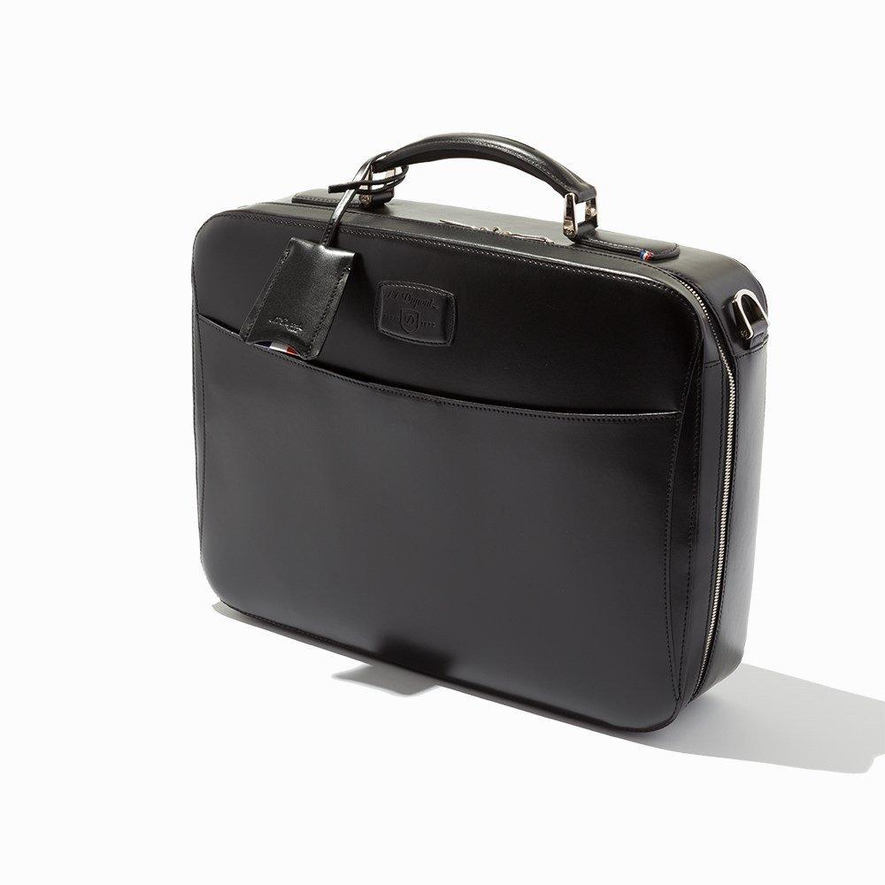 S.T. Dupont, Black Leather Carrier & Laptop Bag - 9