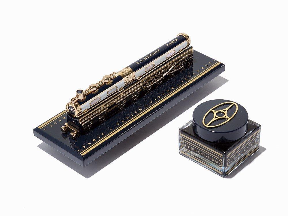 S.T. Dupont, Orient Express Limited Edition Desk Set,