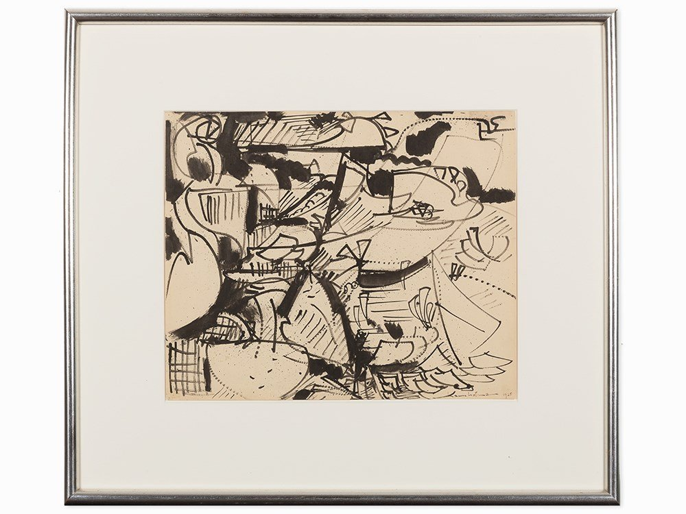 "Hans Hofmann, ""Untitled,"" Work on Paper, 1938"