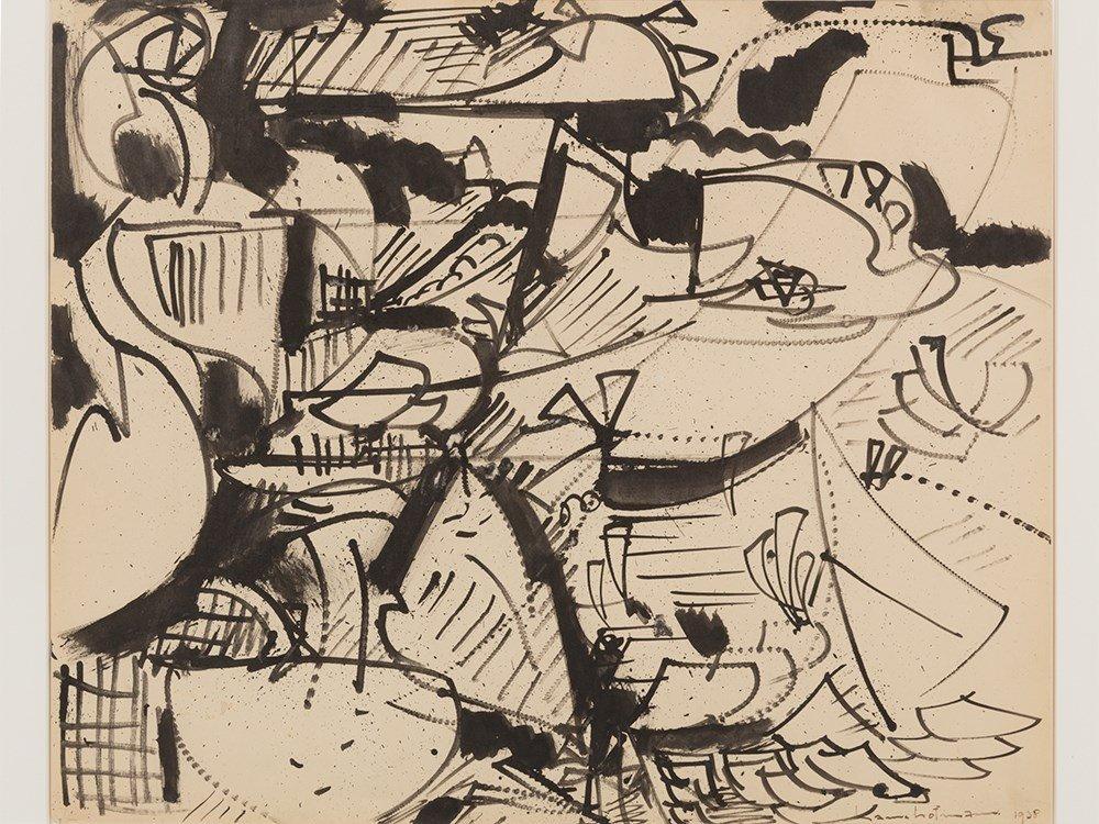 "Hans Hofmann, ""Untitled,"" Work on Paper, 1938 - 2"
