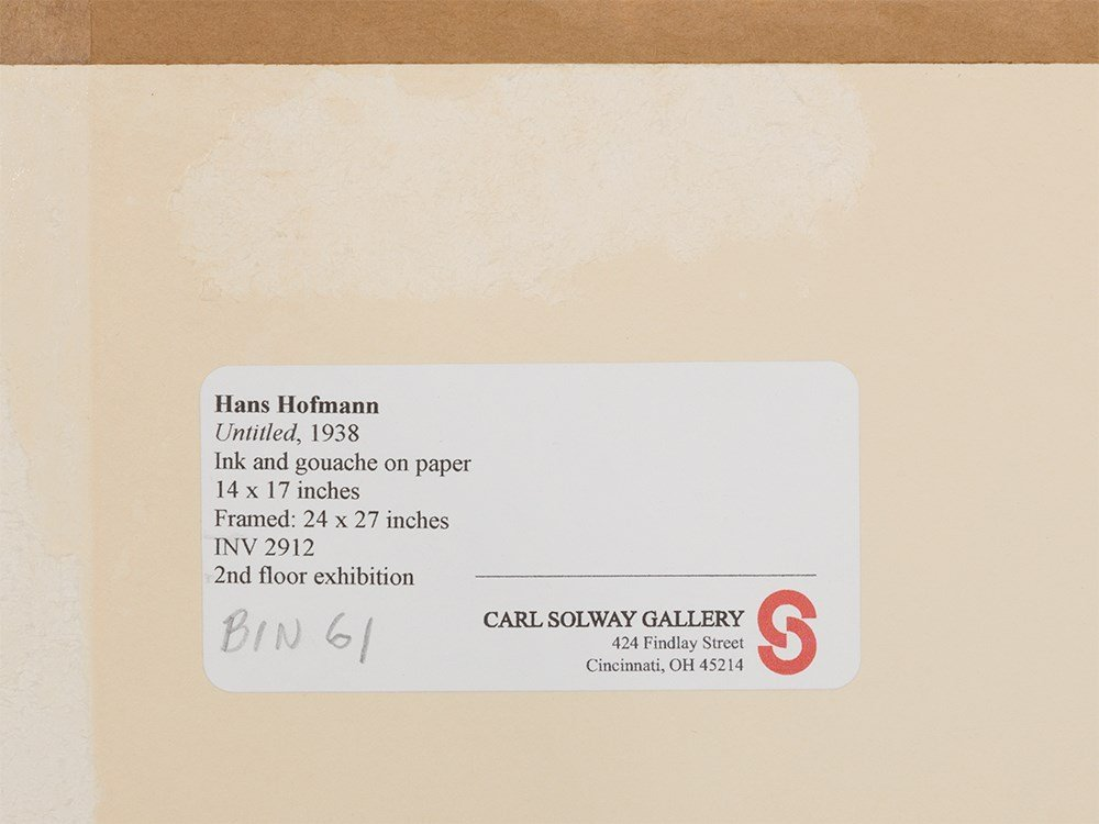 "Hans Hofmann, ""Untitled,"" Work on Paper, 1938 - 5"