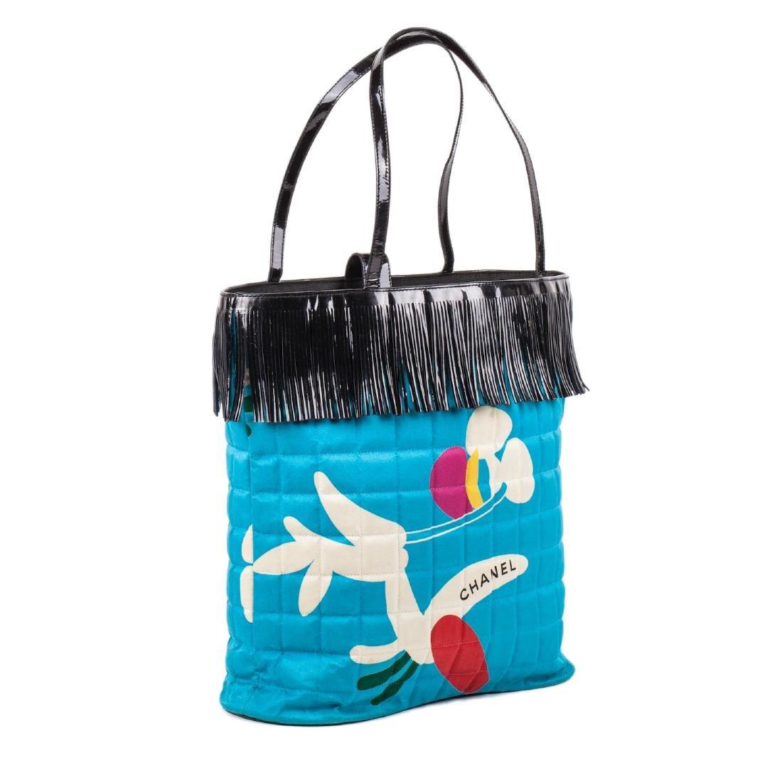 Chanel silk bag