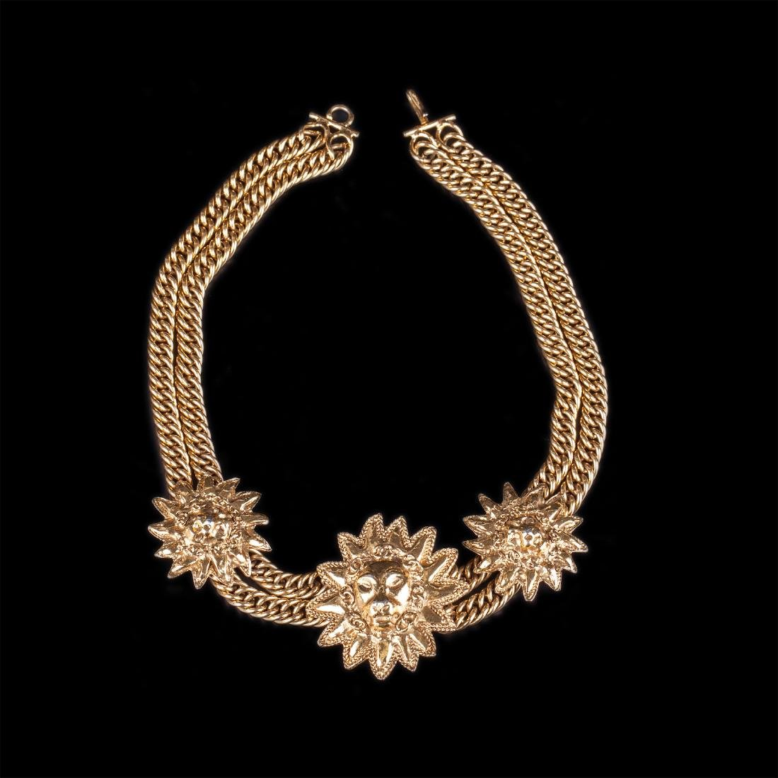 Chanel nacklace with lion faces from 70-80-s