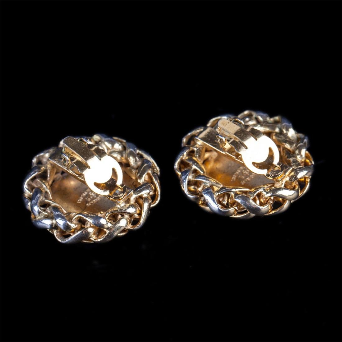 Chanel vintage wheat sheaf clip on earrings (80's-early - 2