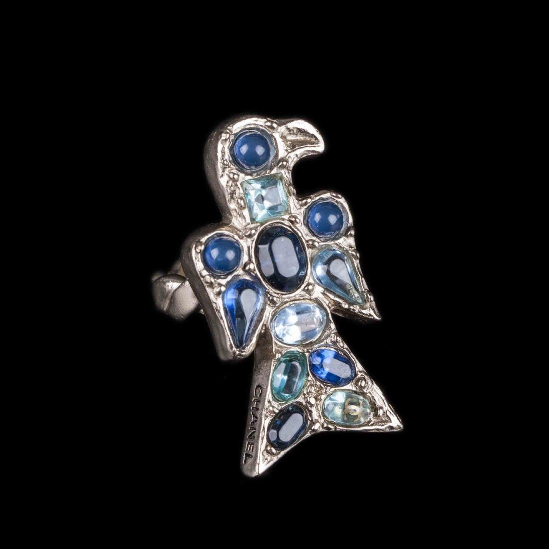 Chanel ring with gripoix glass. 2007