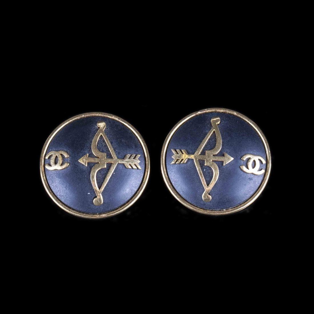Chanel earclips. 1980s