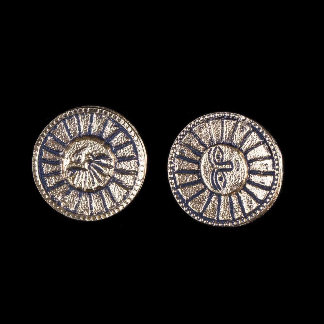 Chanel Moon and Sun earclips