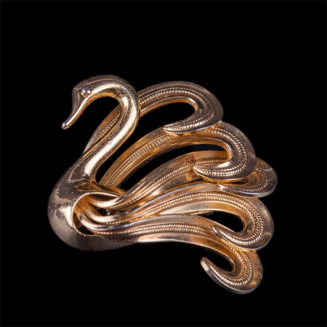 Dior brooch in the shape of swan. 1968