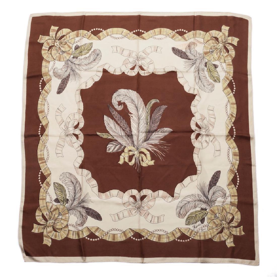 "Rare Hermes ""Panaches""silk scarf"