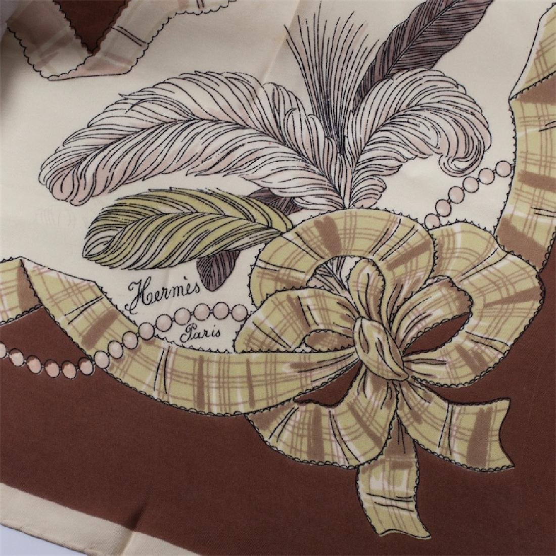 "Rare Hermes ""Panaches""silk scarf - 2"