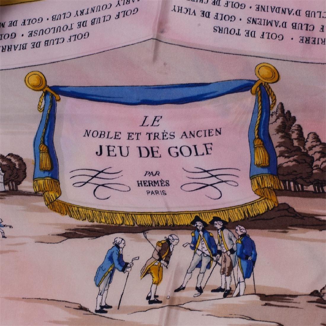 """Rare Hermes """"Le noble et très ancien jeu de golf"""". 1953 - 2"""